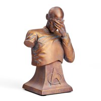 Star Trek TNG Captain Picard Facepalm Bust – Bronze Edition