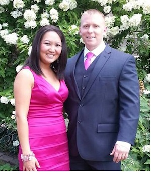 Me and the Mrs looking sharp (I don't ever get dressed up so I wanted to show the more classy side of myself)  haha!