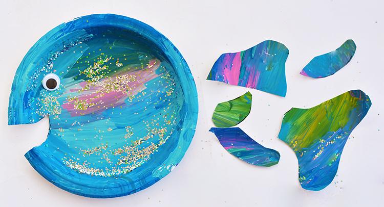 Cozy Paper Plate Rainbow Fish Craft I Heart Arts N Crafts Yamsixteen
