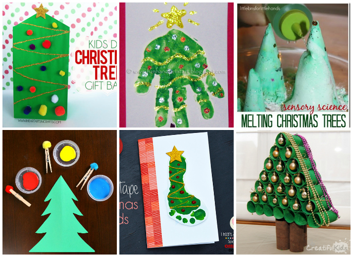 Creative Christmas Tree Crafts And Activities For Kids - I Heart - christmas tree printables