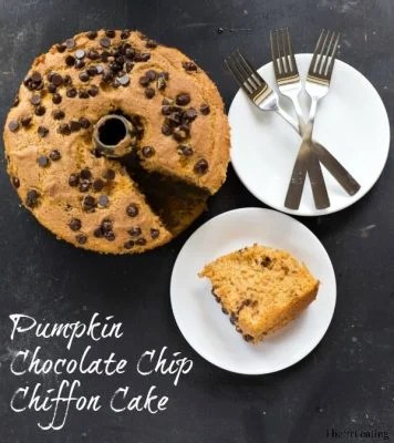 Pumpkin Chocolate Chip Chiffon Cake