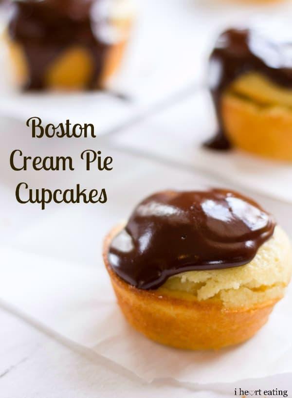 Boston Cream Pie Cupcake   Delicious homemade Boston Cream Pie Cupcakes
