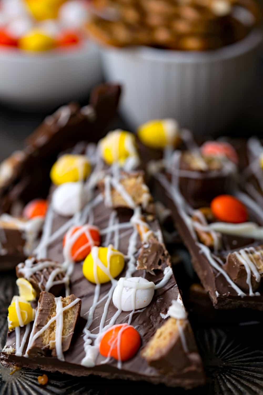Halloween Candy Bark Recipe