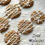 Iced Molasses Cookie Recipe