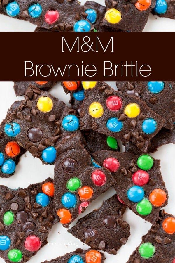 M&M Brownie Brittle   #easy #dessert #shop