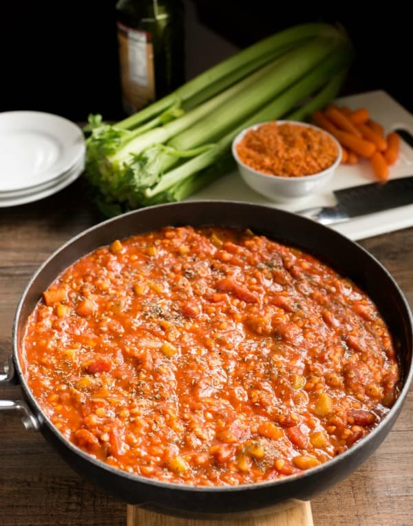 Lentil Bolognese | http://www.ihearteating.com | #WeightWatchers