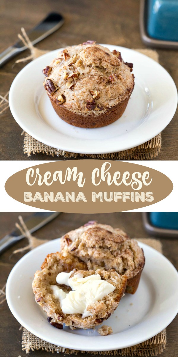 Cream Cheese Banana Muffin Recipe - i heart eating