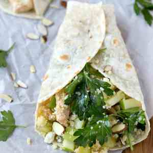 Apple Almond Chicken Salad Wrap