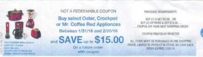 New Oster, Crockpot & Mr. Coffee Catalina At Kroger
