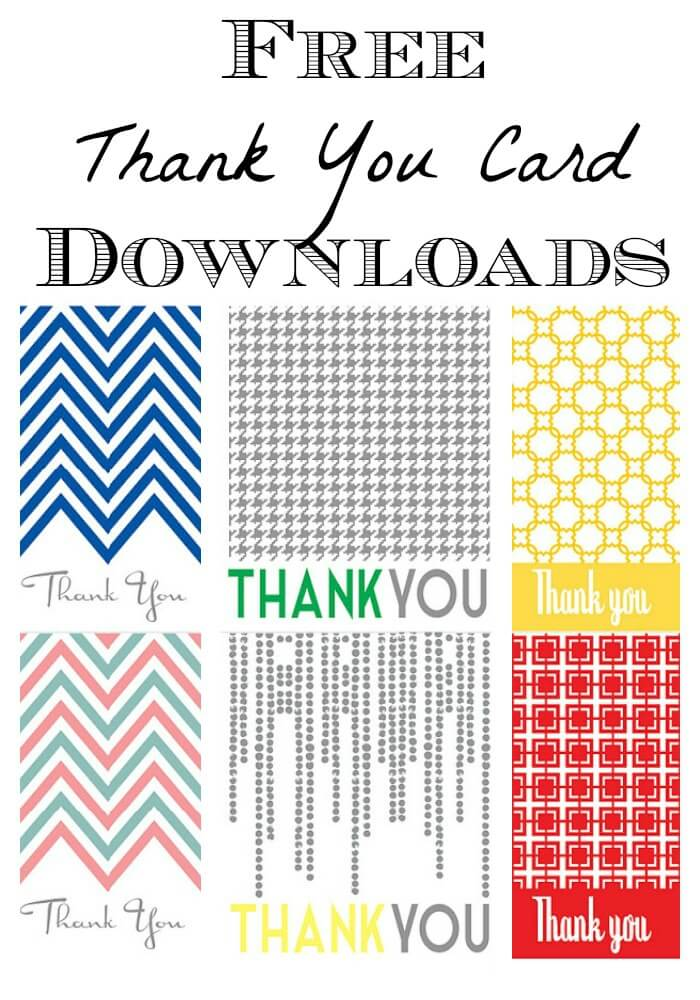 Thank You Note Printable- {FREE printable} - free thank you cards