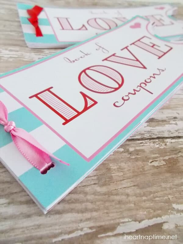 Printable love coupon book -the perfect Valentine\u0027s Day gift! - free coupon book template