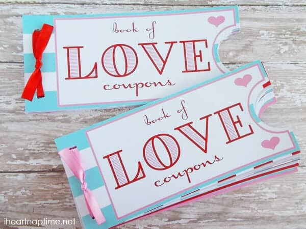 Printable love coupon book -the perfect Valentine\u0027s Day gift!