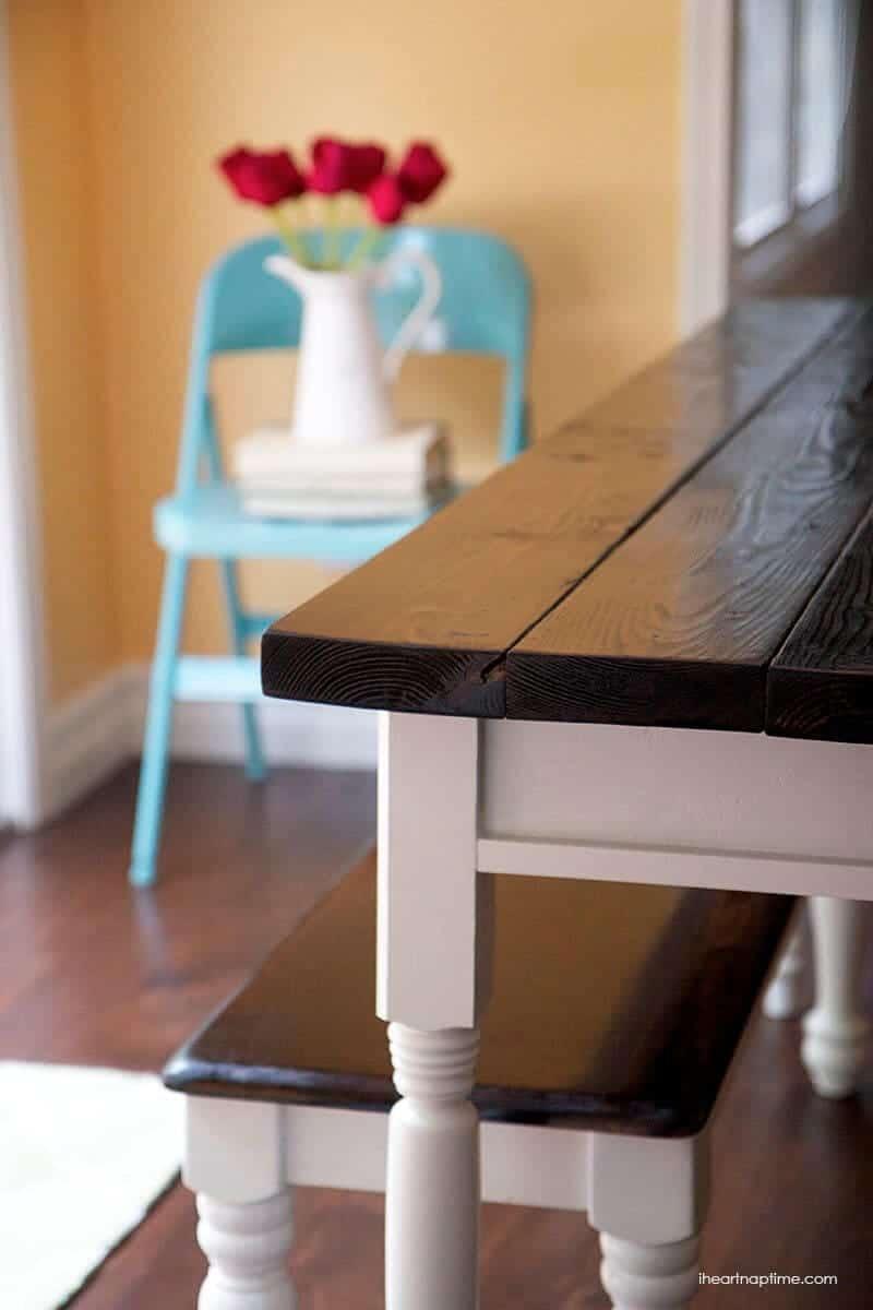 diy farmhouse kitchen table diy kitchen table plans DIY farmhouse kitchen table on iheartnaptime com