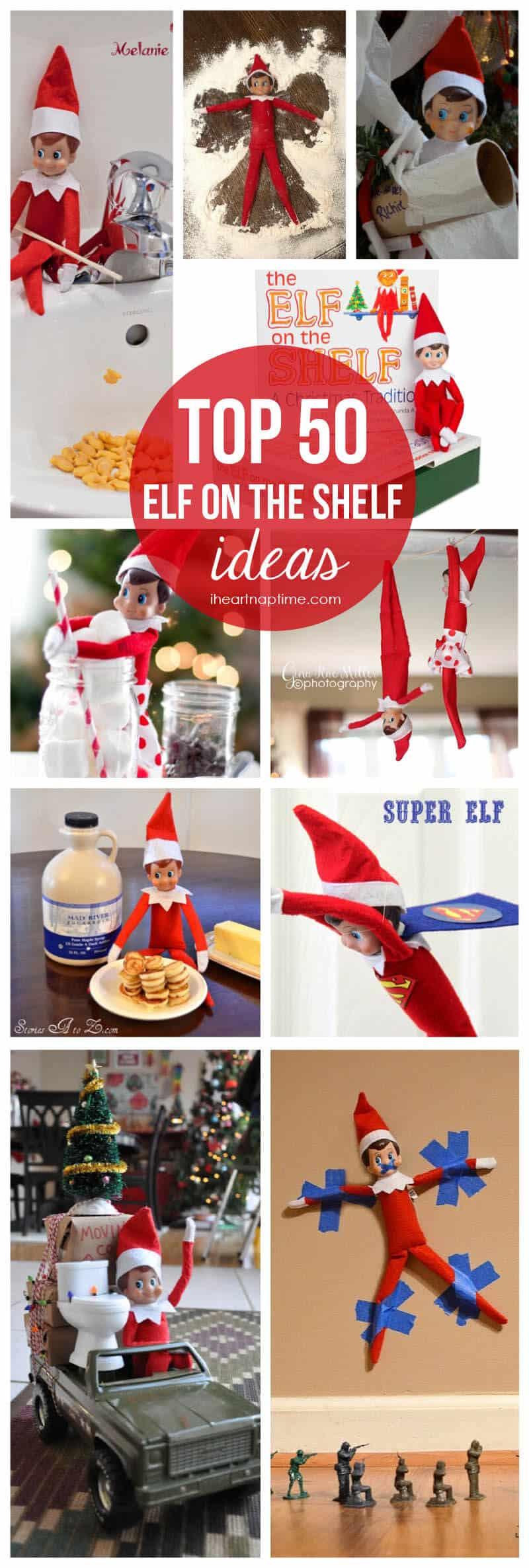 Top 50 elf on the shelf ideas on iheartnaptime com