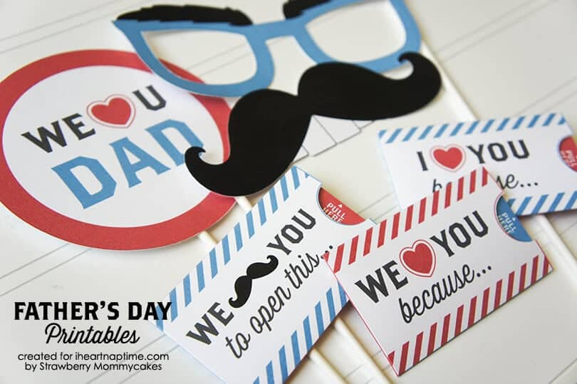 We Love Dad Father\u0027s Day Printables - I Heart Nap Time