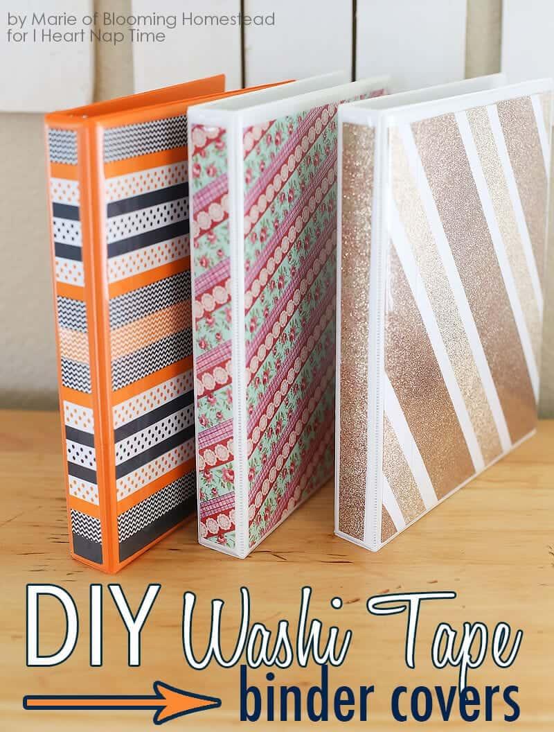 DIY Binder Covers - I Heart Nap Time