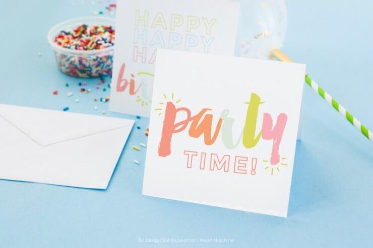 Adorable FREE printable birthday cards - I Heart Naptime