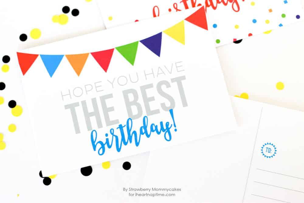 FREE Printable Birthday Postcards - I Heart Nap Time
