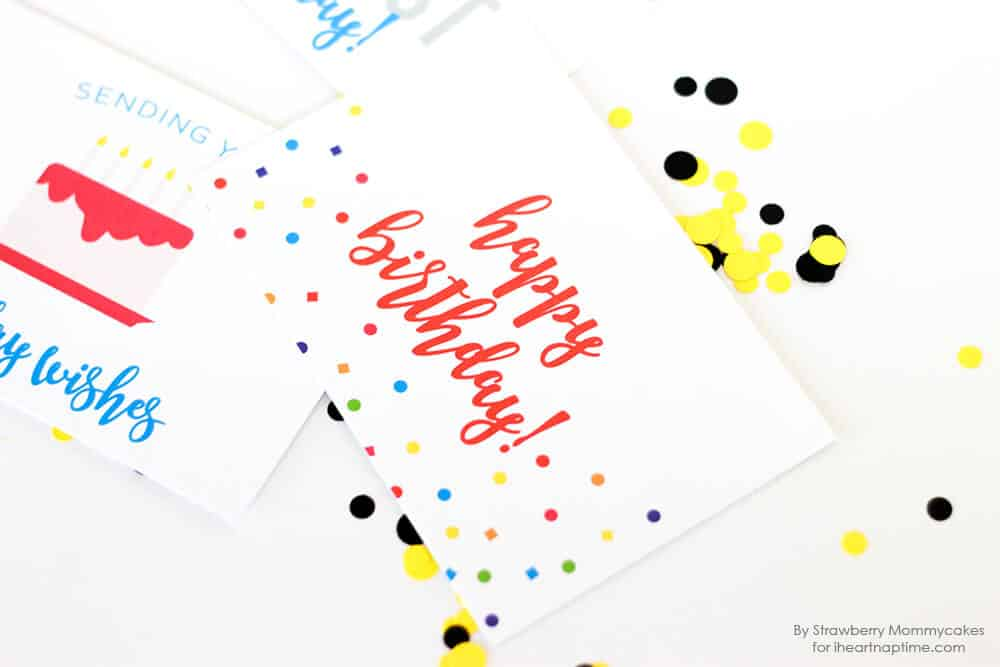 FREE Printable Birthday Postcards - I Heart Nap Time
