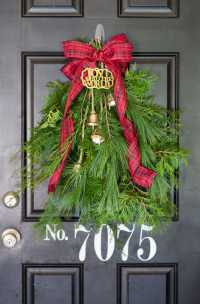 Evergreen Holiday Door Swag - I Heart Nap Time