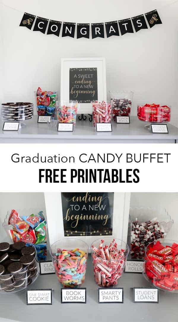 Graduation Candy Buffet - I Heart Naptime