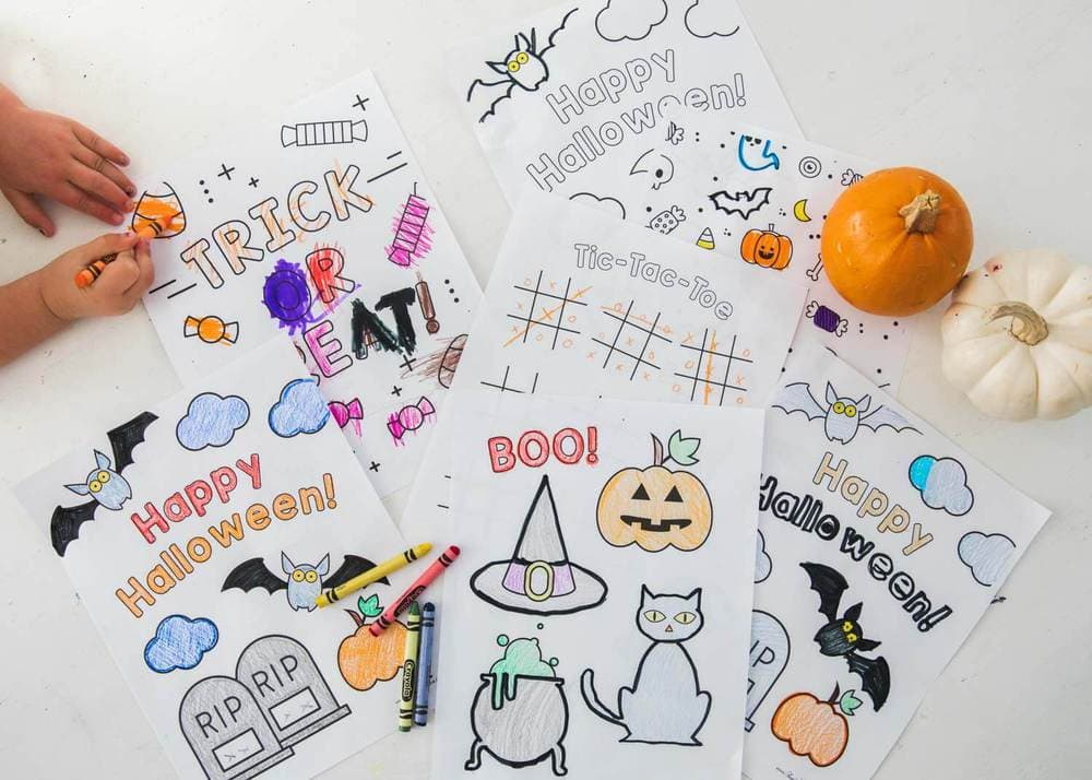 FREE Halloween Coloring Pages Printable (5 designs!) - I Heart Naptime