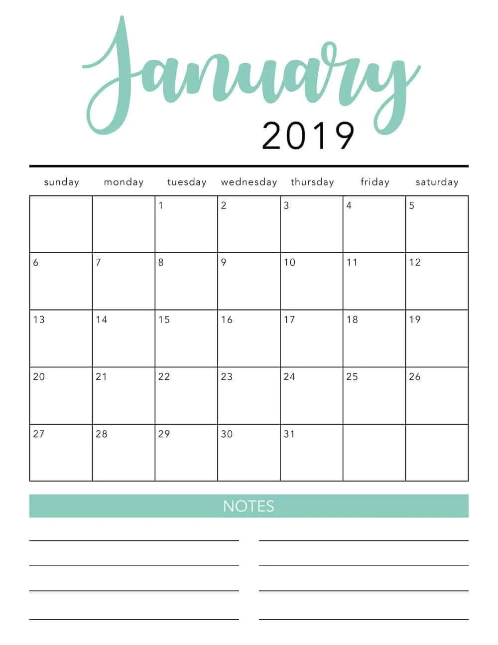 free printable monthly calendar templates