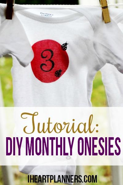 DIY Monthly Onesie Tutorial - I Heart Planners - onesies designs