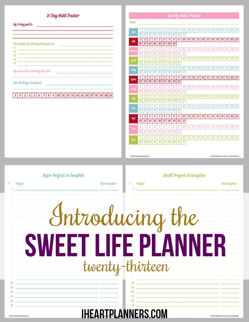 Calendar For 2013 Free Printable 2013 Calendar Online Printable 2013 Holiday Calendar Organizing Printables And The Sweet Life Planner 2013