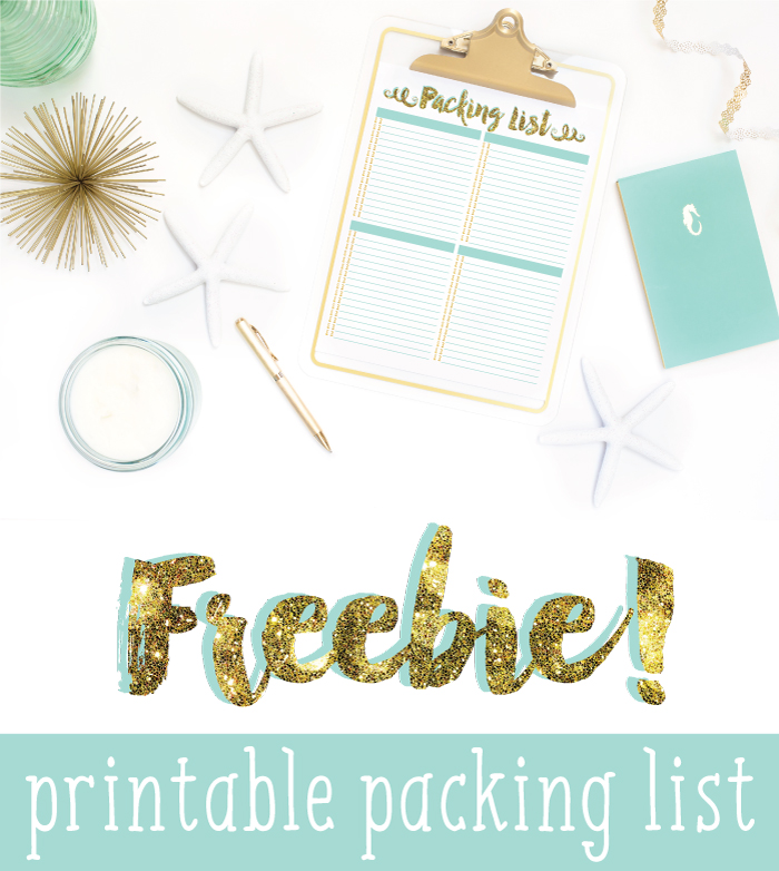 Free Printable Packing List - I Heart Planners - Vacation Packing List Printable