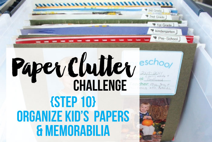 How to Organize Kid\u0027s School Papers  Memorabilia - I Heart Planners