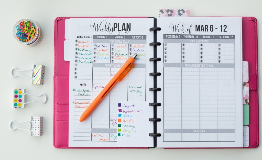 How to Color Code Your Planner - I Heart Planners - appointment planner