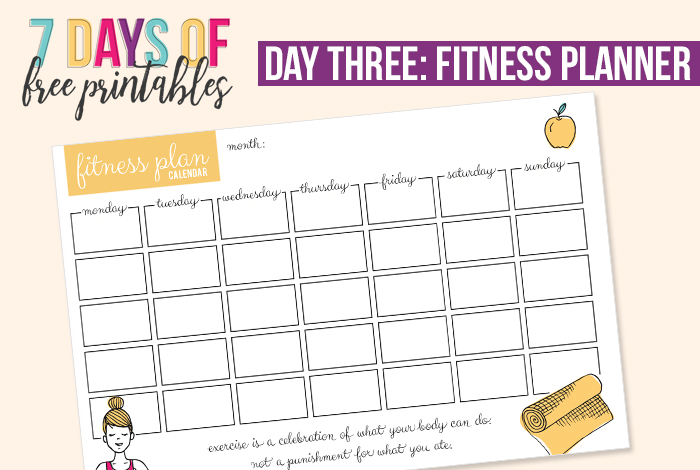 Fitness Planner Printable - I Heart Planners