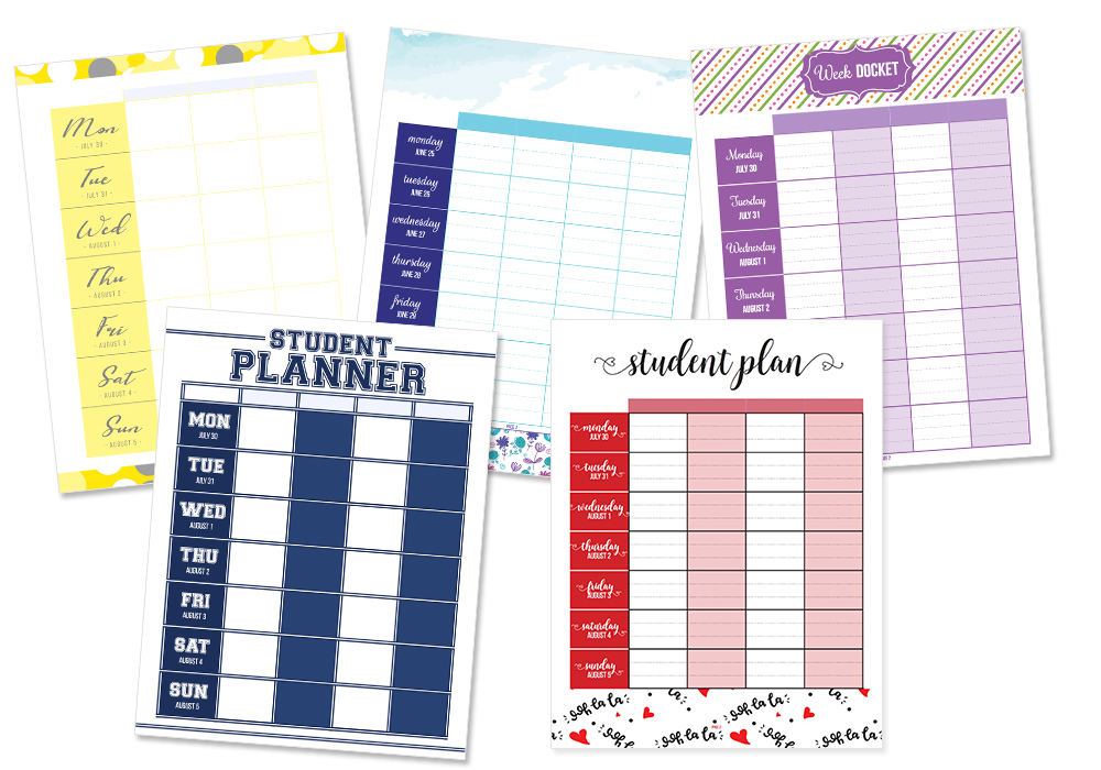 Student Planner Learn how to customize your school planner! - I