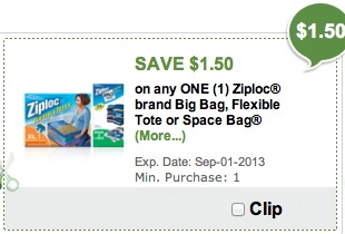 ziploc space publix1 Ziploc Space Bags Coupon   Perfect For Back To School + So Much More