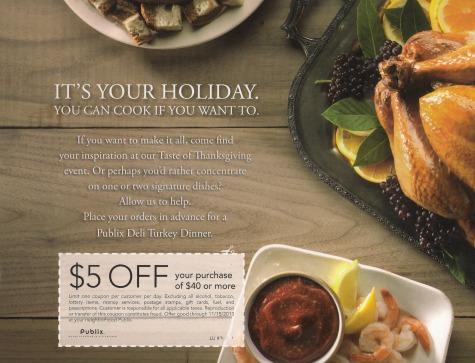 Publix Thanksgiving coupon