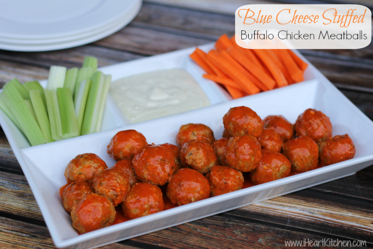 ... and very economical - Blue Cheese Stuffed Buffalo Chicken Meatballs