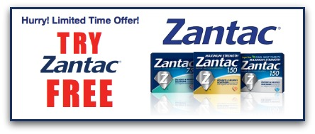 Zantac Try Me Free Rebate Offer - FREE 24 or 30 count!