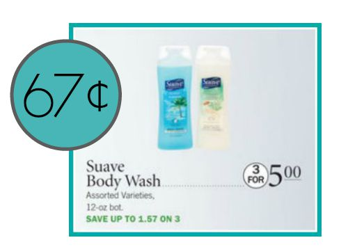 suave body wash publix