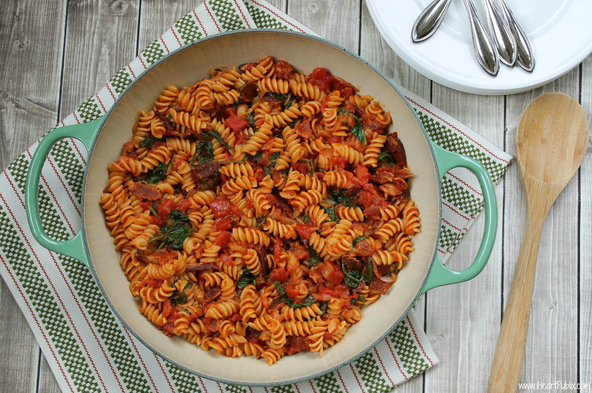 One-Skillet-BLT-Pasta-