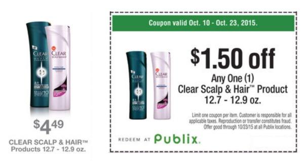 clear hair coupon publix