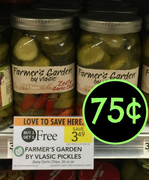 Farmer s garden by vlasic pickles as low as 55 at publix for Vlasic farmer s garden pickles