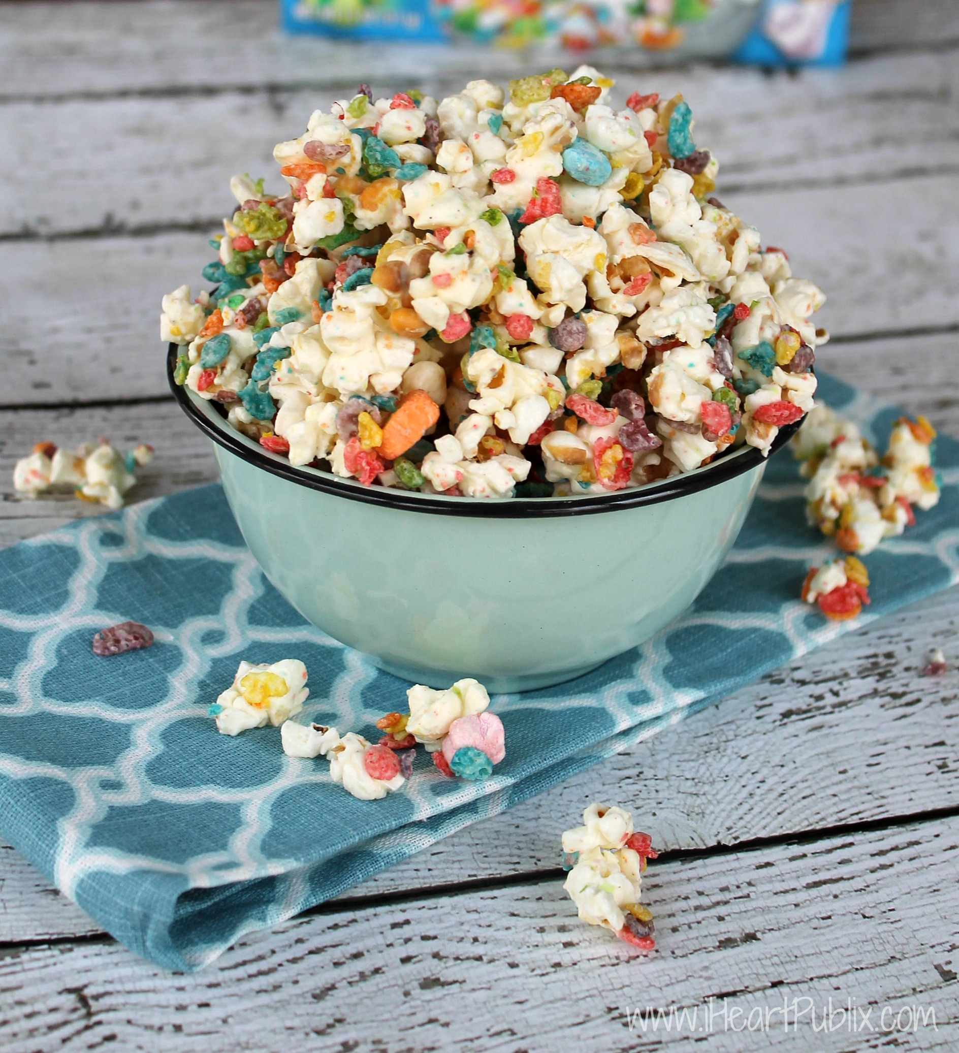 Fruity Pebbles Candied Popcorn