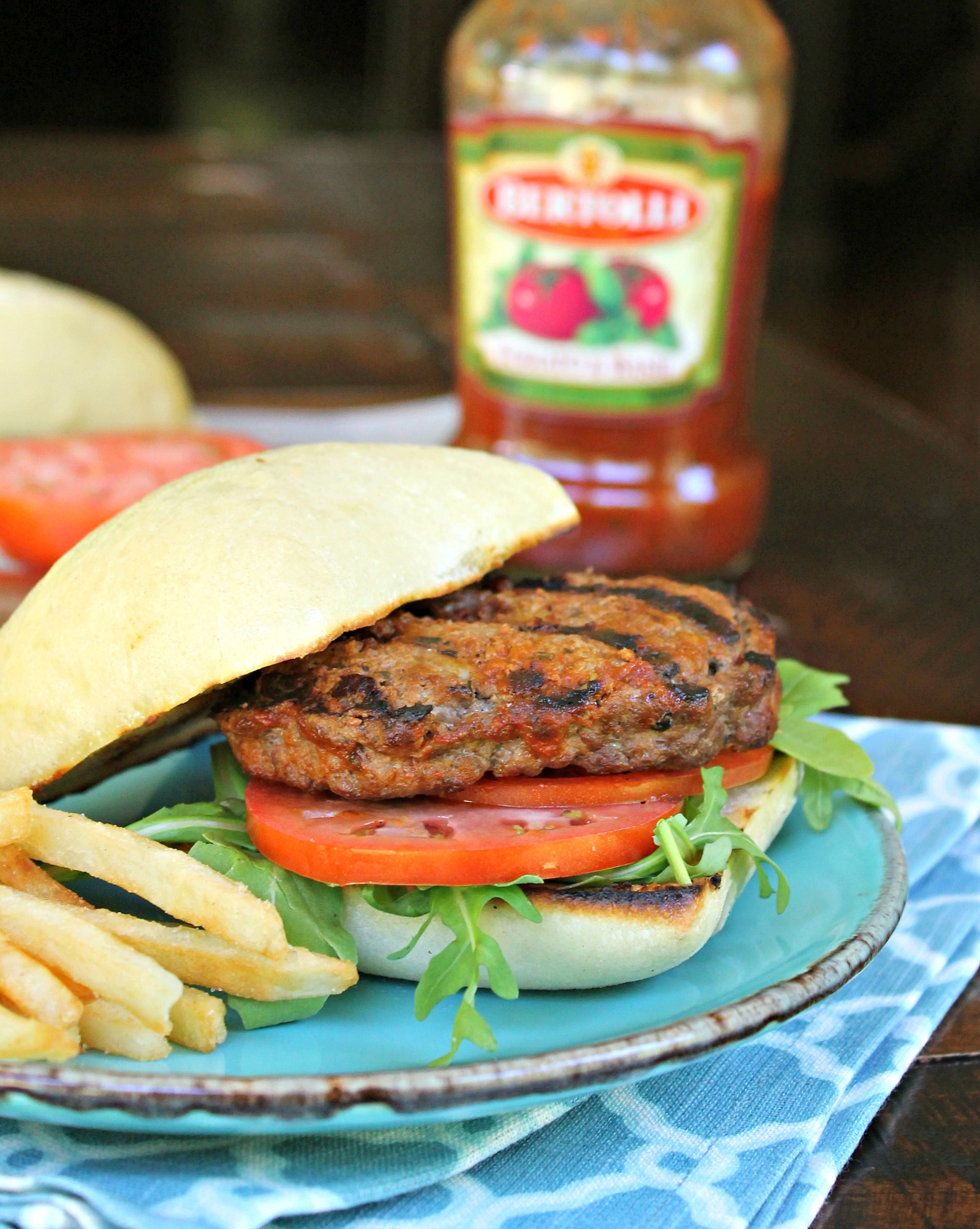 Mozzarella Stuffed Tuscan Burger