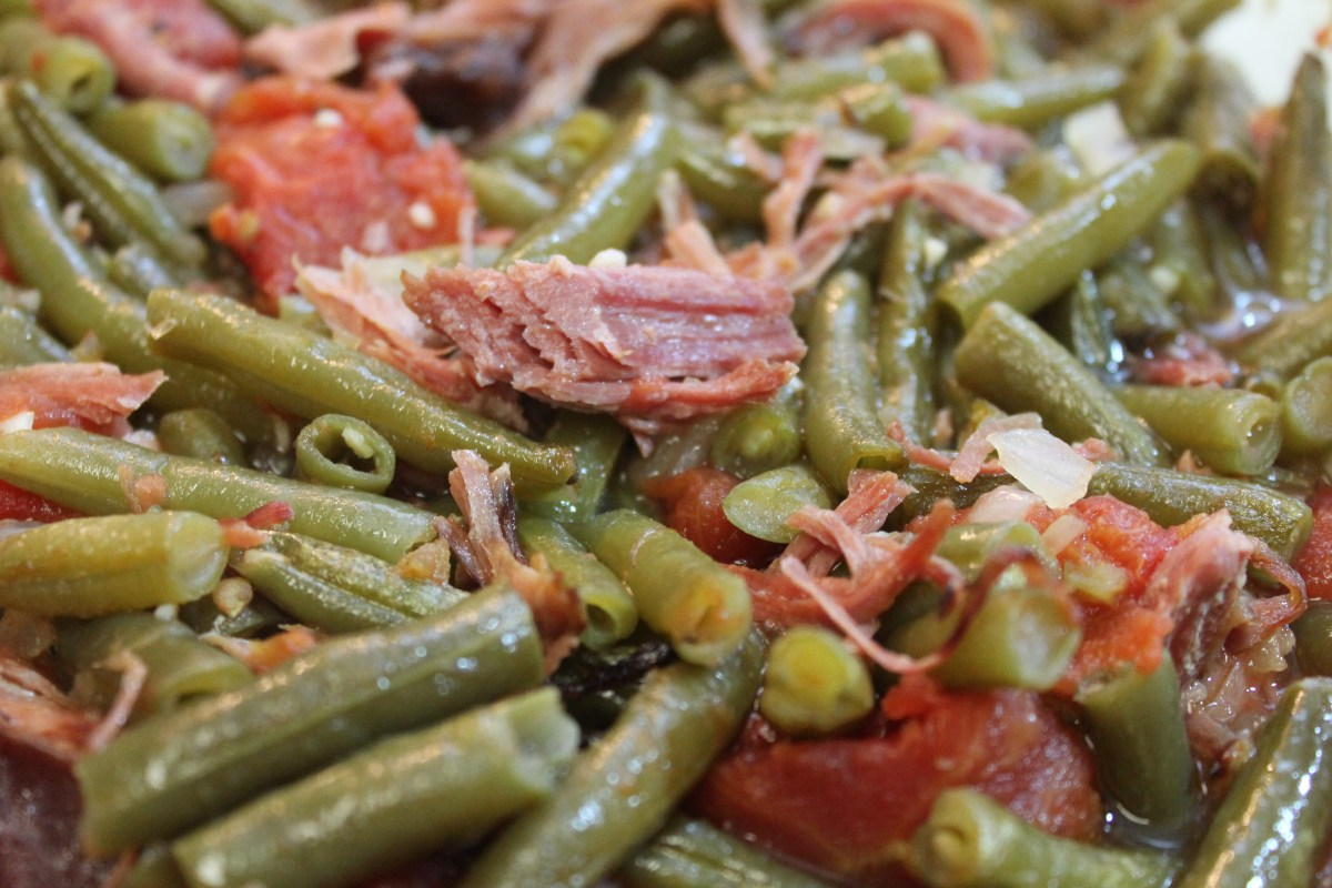 Southern green beans with smoked turkey i heart recipes for How to cook fresh lima beans from garden