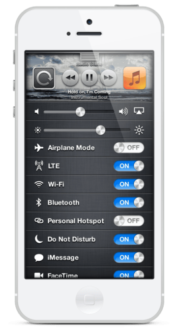 QS2  iOS 7 Concept video of 'Quick Settings'  QS2