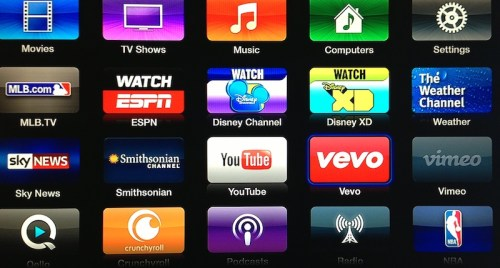 Apple-TV-Vevo-channel  Apple launched an replace to Apple TV with 5 new apps Apple TV Vevo channel