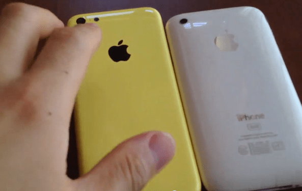 yellow iPhone 5C  Alledged iPhone 5C in field shell  yellow iphone 5c handson