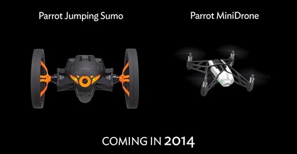 Parrot-minidrone-sumo  Parrot released MiniDrone and jumping Sumo for smartphones Parrot minidrone sumo