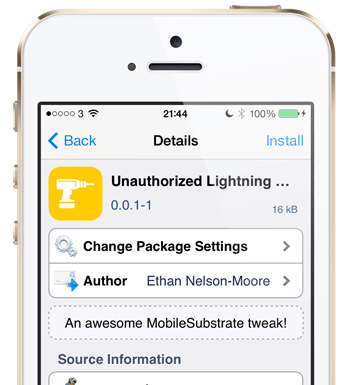 ios 7  How to use non-certified Lightning-cables with iOS 7 iOS 7 lite